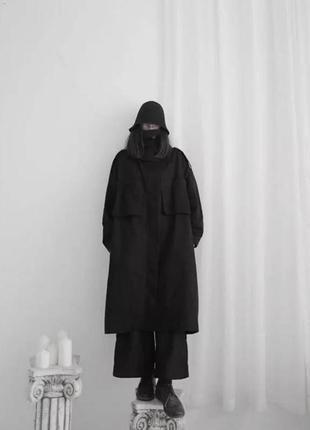 Брендовый уникальный осенний тренч плащ пальто оверсайз с большими
