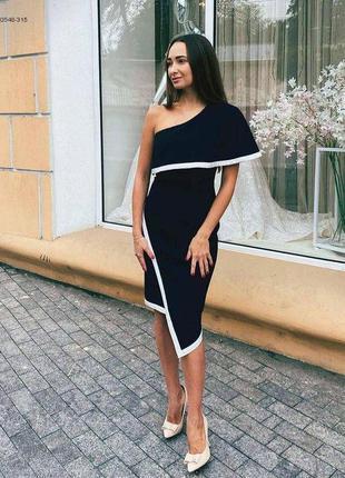 Элегантное асимметричное платье