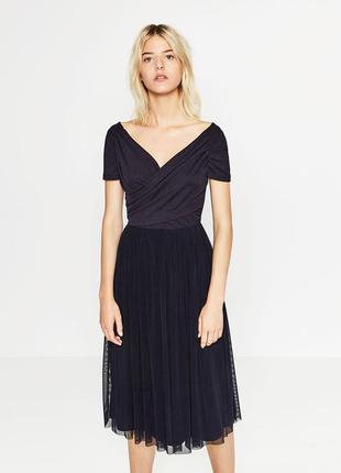 Коктельное, вечернее нарядное платье zara