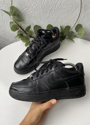 Кожаные кроссовки nike air force 1