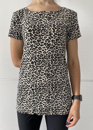 Футболка в леопардовий принт, котонновая футболка, леопардовая футболка.