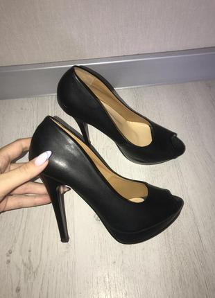 Босоножки туфли женские открытый носок 38 размер 37.5 размер