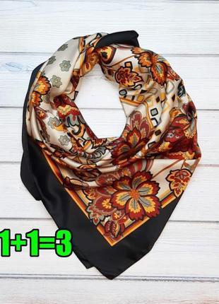 💥1+1=3 итальянский красивый платок в цветах в теплых тонах