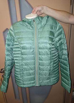 Пуховик куртка next р.18 в отличном состоянии. есть небольшое пятнышко на рукаве. цена 700