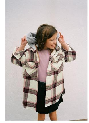 Рубашка с капюшоном на девочку 122 см от zara!