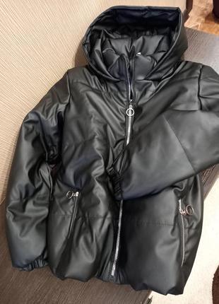 🔥топовые демисезонные дутые куртки экокожа