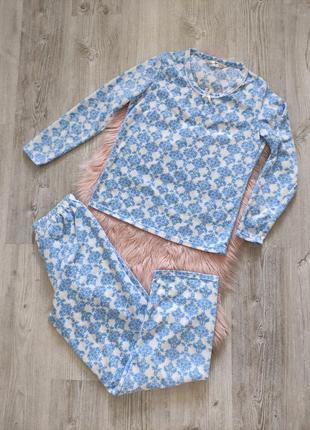 Теплый домашний костюм пижама