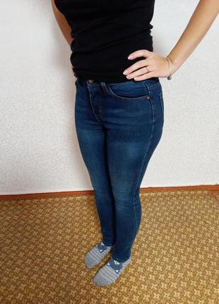 Утеплённые джинсы, на флисе