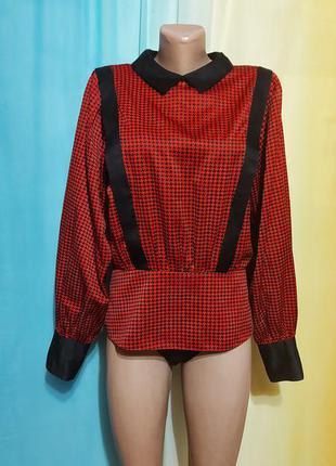 Идеальная блуза/гусиная лапка/подплечники.
