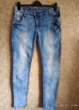 Отличные модненькие зауженные джинсы blue  monkey / размер w:30/ l:32