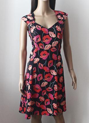Шикарное легкое платье с маками  • р-р xl (14\42)
