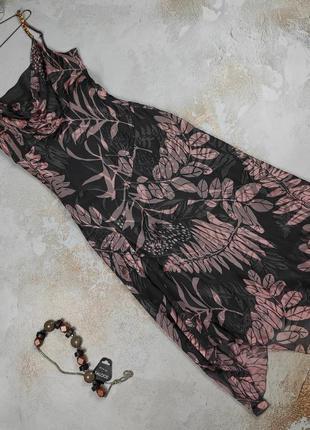 Платье макси шелковое оригинальное изысканное phase eight uk 12/40/m