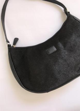 Черная кожаная сумка хобо на плечо оригинал osprey london