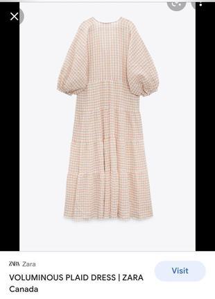 Батистовое платье длинное zara
