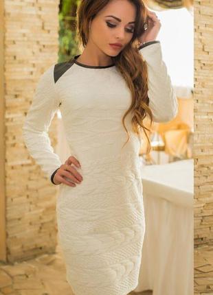 Женское белое мини платье  (0403)