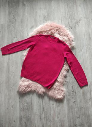 Розовый шерстяной джемпер из шерсти ламы натуральный