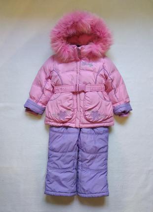 Зимний пуховой комбинезон костюм dоnilo 2-4 года 98 + 6