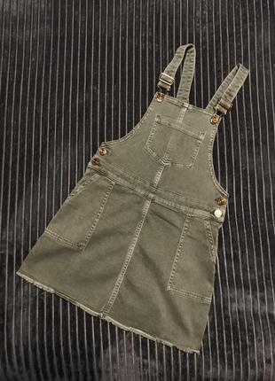 F&f детский джинсовый комбинезон сарафан хаки