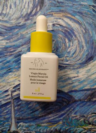 Масло для лица drunk elephant virgin marula luxury facial oil 8 мл