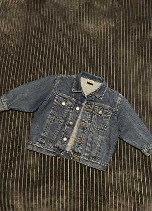 Винтажный детский джинсовый пиджак жакет джинсовка курточка