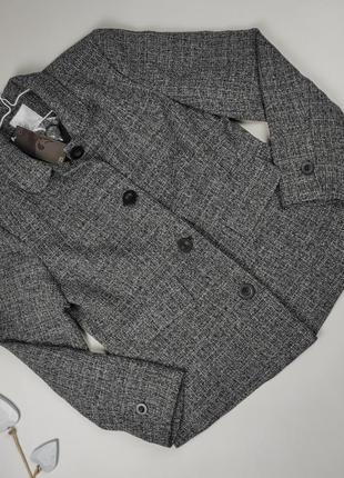 Пиджак жакет новый серый привлекательный tu uk 16/44/xl