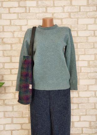 Фирменный f&f мега тёплый свитер со 100 % шерсти в приятном зелёном, размер с-м