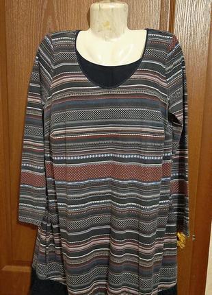 Трикотажное платьешко размера 50-52.