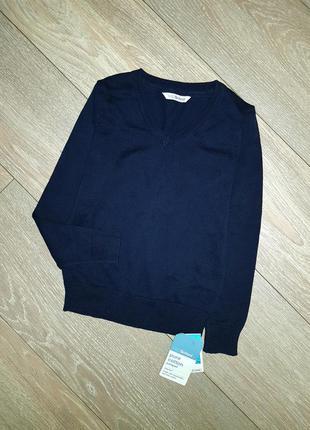 Темно-синий джемпер на 5-6 лет