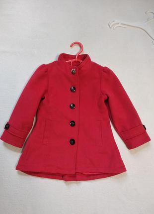 Яркое красное пальто pumpkin patch 2-3 года