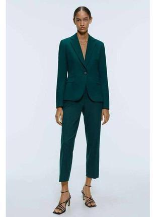Пиджак жакет зеленый zara зара
