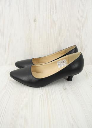 """Классические черные туфли лодочки """"damart"""". размер uk5/ eur38."""