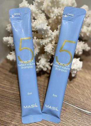 Masil шампунь для объема волос с пробиотиками 5 probiotics perfect volume shampoo
