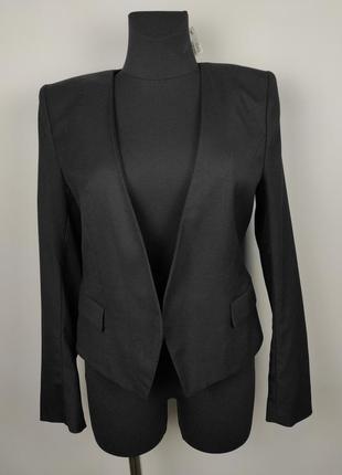 Пиджак жакет новый стрейчевый стильный h&m uk 14/42/l