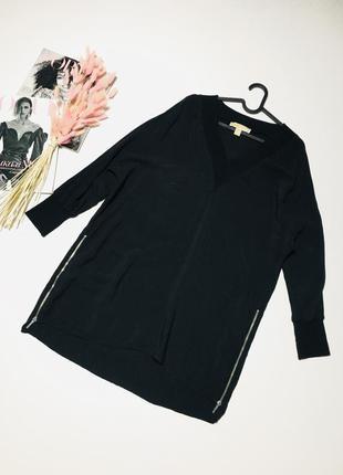 Оригинальная блуза с молниями от michael kors