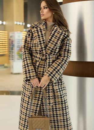 Стильный комплект-образ пальто + платье