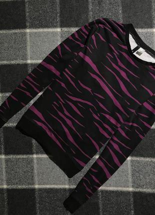 Женская хлопковая кофта (свитшот, реглан) с узором h&m ( эйч энд эм с-мрр идеал оригинал)