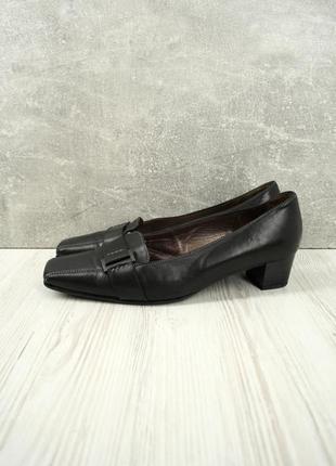 Стильные фирменные кожаные туфли gabor черного цвета. размер uk5/ eur38-39
