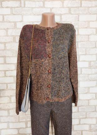 Новый свитер/кофта/джемпер на 58 % шерсть с пуговицами в коричневом цвете, размер л-хл