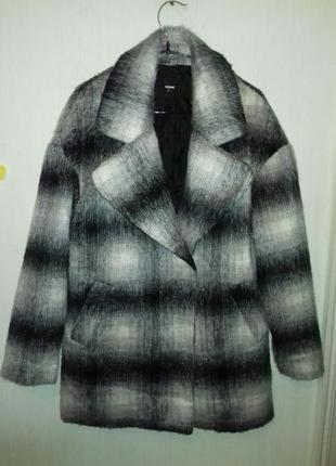 Шикарное стильное весенние пальто бойфред из шерсти ламы 8-10 размер