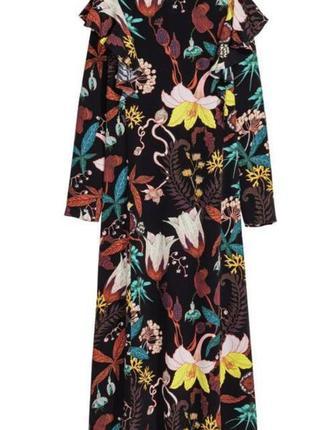 Платье h&m трендовое цветочный принт