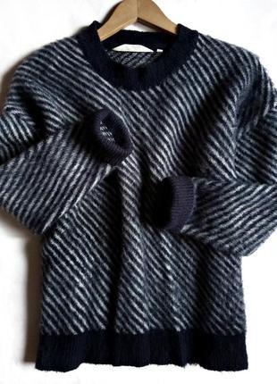 ✅шерстяной теплый свитер, джемпер, кофта в полоску, шерсть, basic apparel