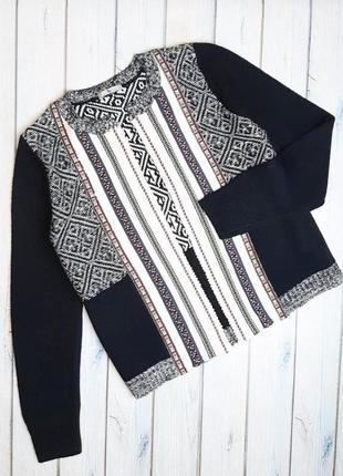 💥1+1=3 шикарный черный мягкий кардиган с вышивкой tu вышиванка, размер 46 - 48