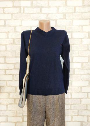 Фирменный tommy hilfiger свитер/кофта на 80 % шерсть в темно синем цвете, размер с-ка