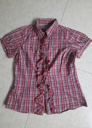 Шикарная блузка с рюшами