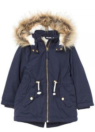 Теплая курточка h&m 3-4 года