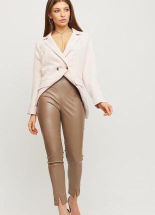 Кожаные брюки , кожаные лосины , лосины с разрезами