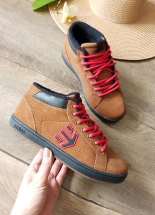 Ботинки,кроссовки etnies, сша натуральная замша 37размер