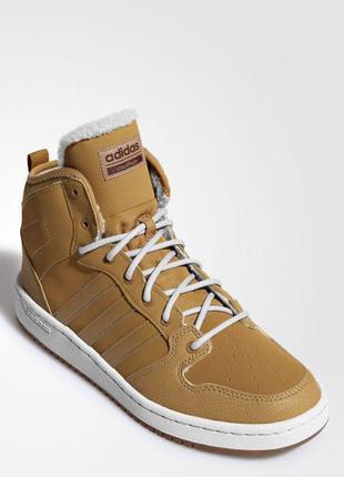 Новые утепленные  кроссовки - ботинки adidas cloudfoam hoops winter mid k br