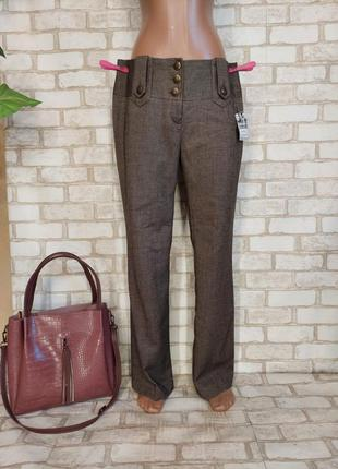 Фирменные yessica с биркой штаны/брюки в принте мелкая ёлочка, размер хл