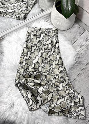 Сатиновая миди юбка